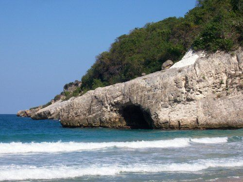 The beaches in Jeremie, Haiti.  I've been in that cave.  Amazing!