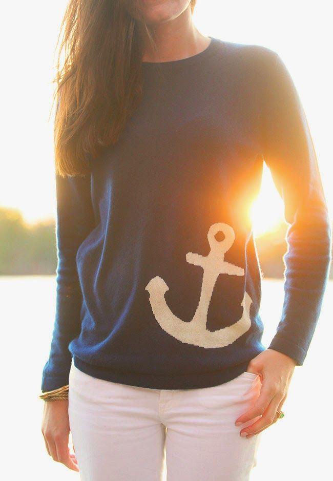 Classy Girls Wear Pearls: Anchor Down