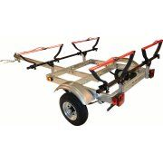 Malone XtraLight Trailer Package with 2 V-Kayak Racks Image 1 of 2