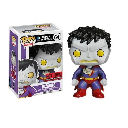Bizarro was conceived as the mirror image of the Superman character, inhabiting a world that often defies logic in a childlike way, and has him speaking in a distinctly basic language that in someways came to define the character. He has proved very popul #bizarro #heroes #funko #pop_vinyl #popinabox