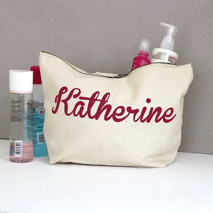 Squiffy Print Personalised Wash Bag - gifts for her - gifts for him - travel accessories - makeup bag - personalised gift - custom gift by SquiffyPrint on Etsy