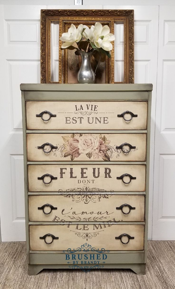 Vintage Dresser Painted With Dixie