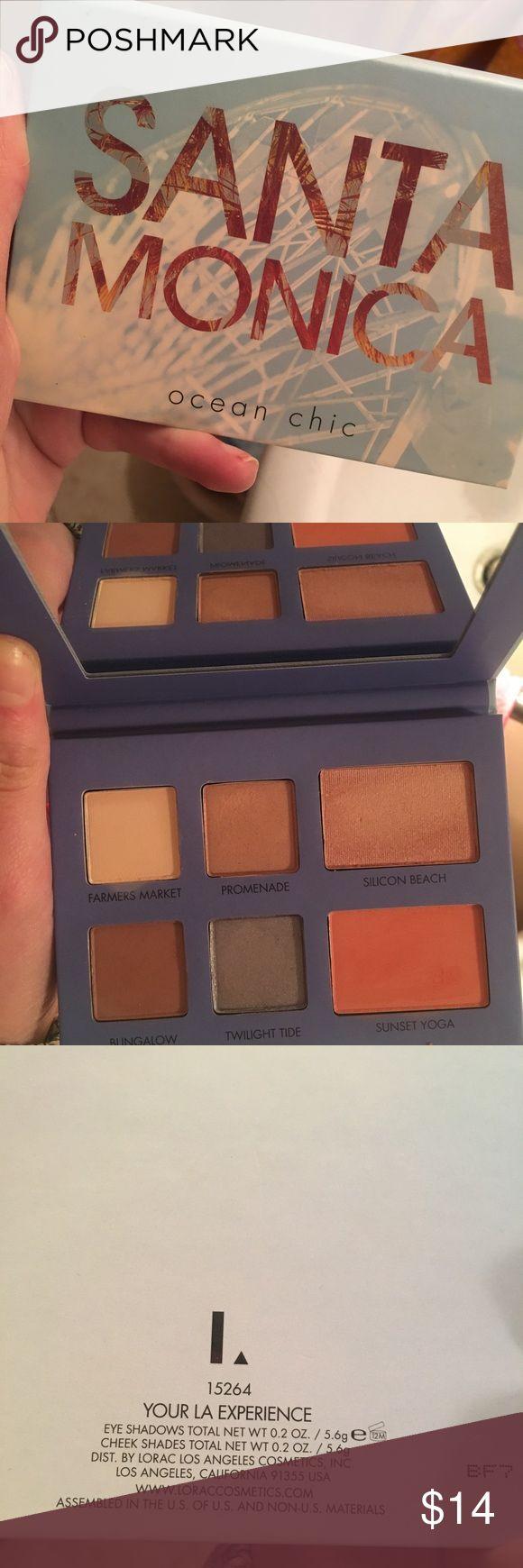 Lorac eyeshadow palette Santa Monica Lorac palette. Only swatched! Never used. Lorac Makeup Eyeshadow