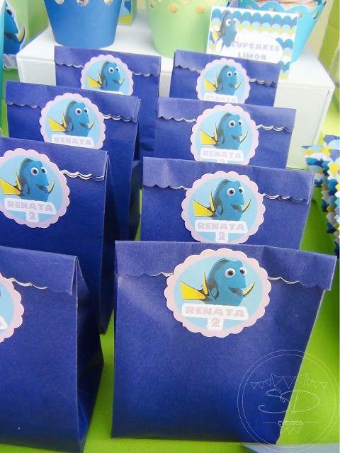 SD Eventos: BUSCANDO A DORY! Finding Dory birthday party Finding Dory sweet table Candy Bar Buscando a Dory Bolsitas golosineras