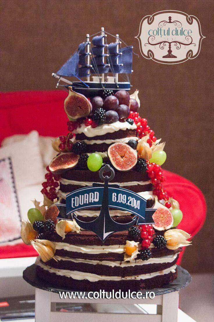 Boat Cake / Sailor cake / Navy Cake / Pirate Cake www.coltuldulce.ro