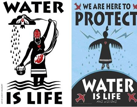 The Onaman Collective is offering free banner images for land and water protectors here:  http://onamancollective.com/murdoch-belcourt-banner-downloads/                                                                           Three indigenous artists compose the collective – Christi Be...