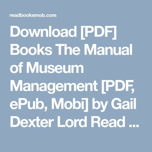48 best my books images on pinterest download pdf books the manual of museum management pdf epub mobi fandeluxe Choice Image