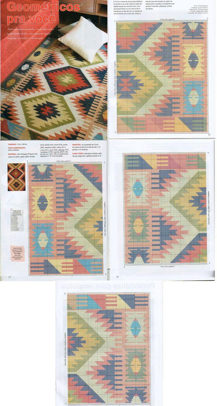 alfombra y su diagrama.