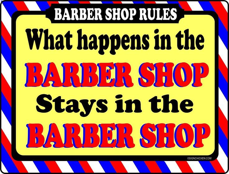 BARBER SHOP SIGN -WHAT HAPPENS -  BARBER SUPPLIES, BARBER CHAIR, SALON SUPPLIES
