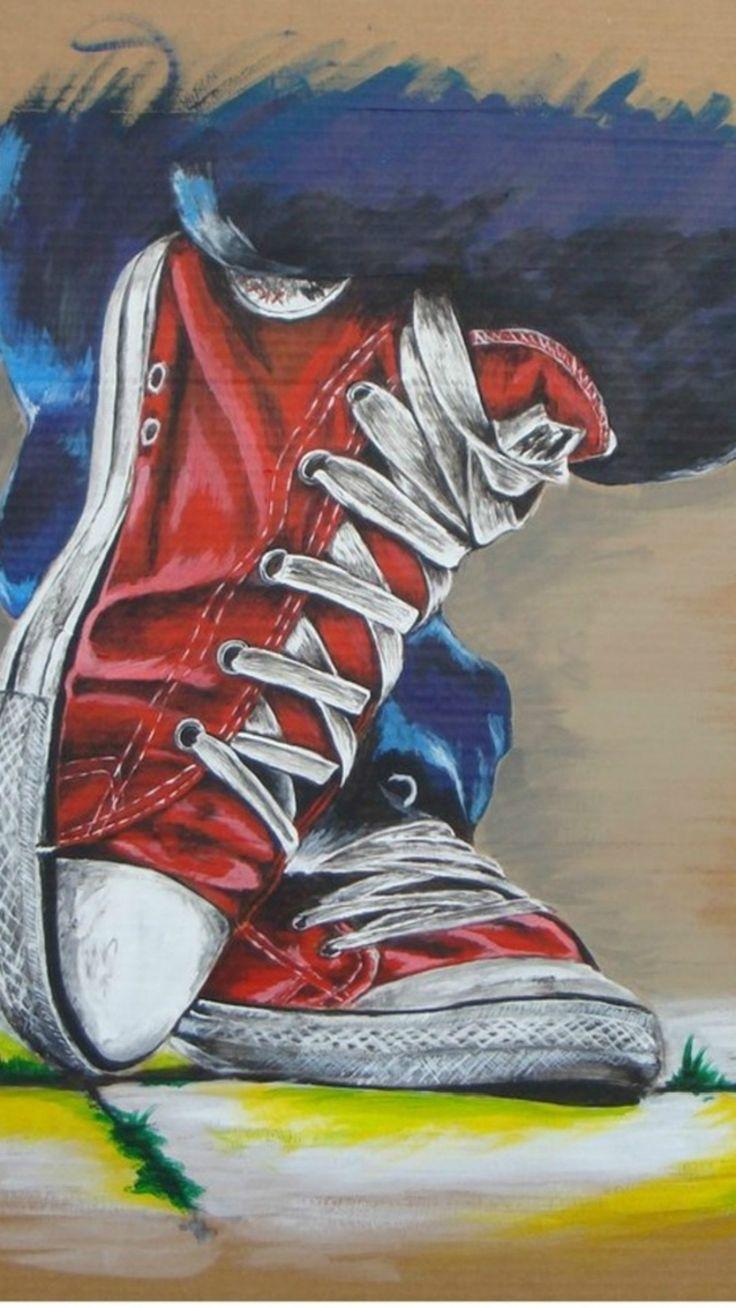 Graffiti art wallpaper iphone - Converse Leisure Shoes Painting Art Iphone 6 Wallpaper