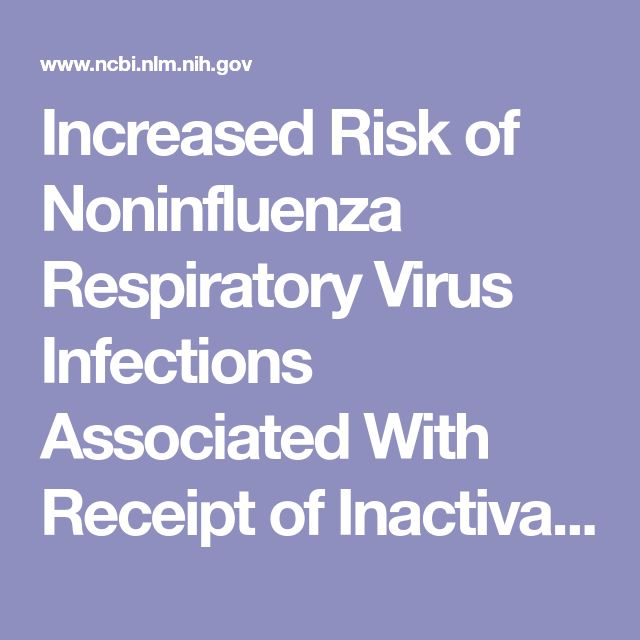 Increased Risk of Noninfluenza Respiratory Virus Infections Associated With Receipt of Inactivated Influenza Vaccine