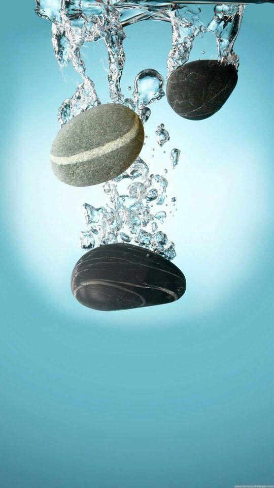 Stones Falling In Water Iphone 6 Plus Wallpaper Samsung Galaxy Wallpaper Hd Wallpaper Beautiful wallpaper hd water drop