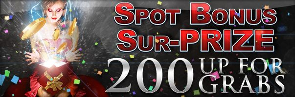 Make a deposit today and see if you're one of our random lucky winners of the fun Bonus Spot Prize!