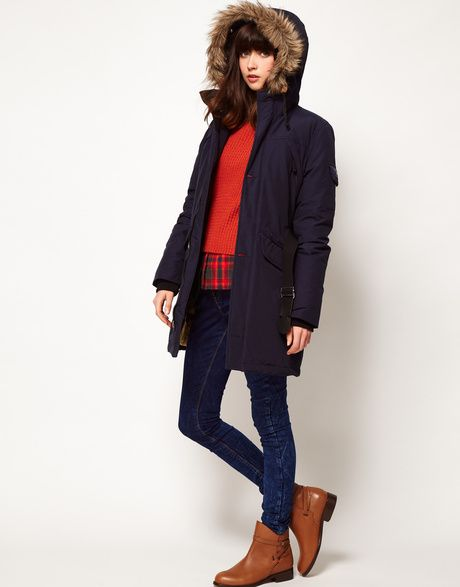 how to wear a blue marine parka, idea. Penfield Hoosac Down Filled Padded Parka in Blue (olive) - Lyst