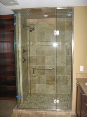 how to put a 3 door shower together