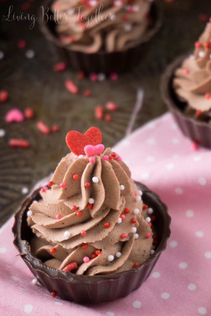 4-Ingredient Chocolate Mousse Cups - Sugar & Soul