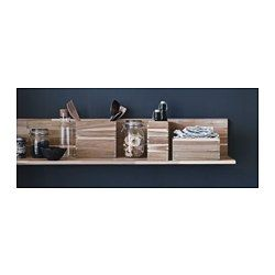IKEA - SKOGSTA, Wall shelf, Solid wood is a durable natural material.The shelf becomes one with the wall thanks to the concealed mounting hardware.
