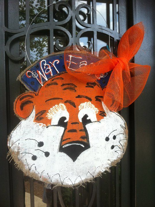 Aubie Door Hanger.  HAVE to make this!!