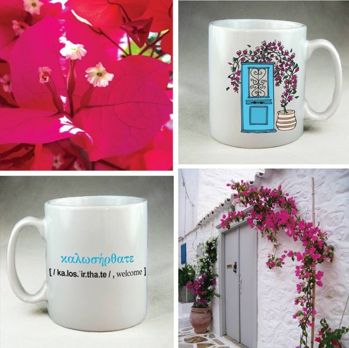 #Ploos_Design  #Living_Postcards - The new face of #Greece #mug #welcome #hospitality #coffee