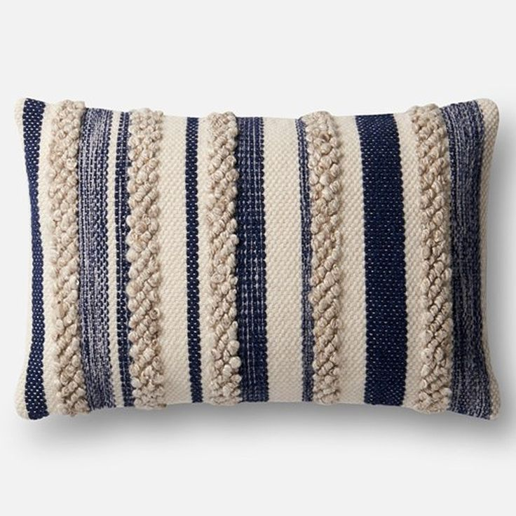 Loloi Magnolia Home Pillow Navy Ivory In 2019 Magnolia