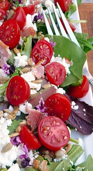 Bacon, Feta & Tomato Salad
