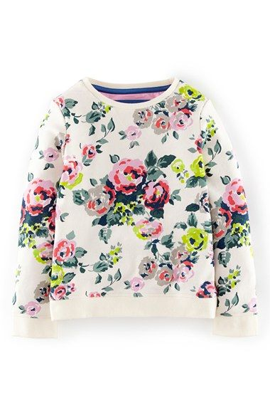 Mini boden print sweatshirt toddler girls little girls for Mini boden rabatt