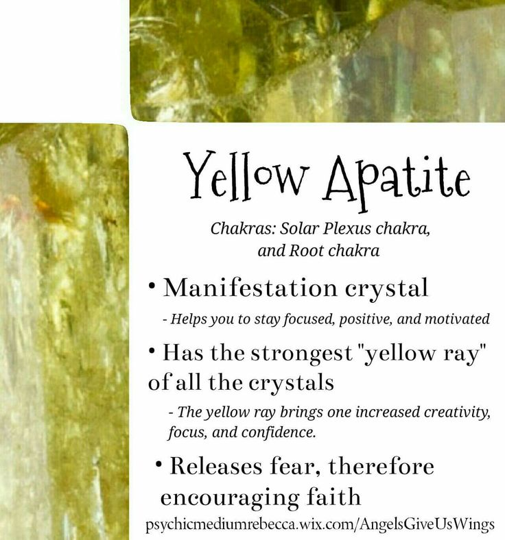 Yellow Apatite crystal meaning