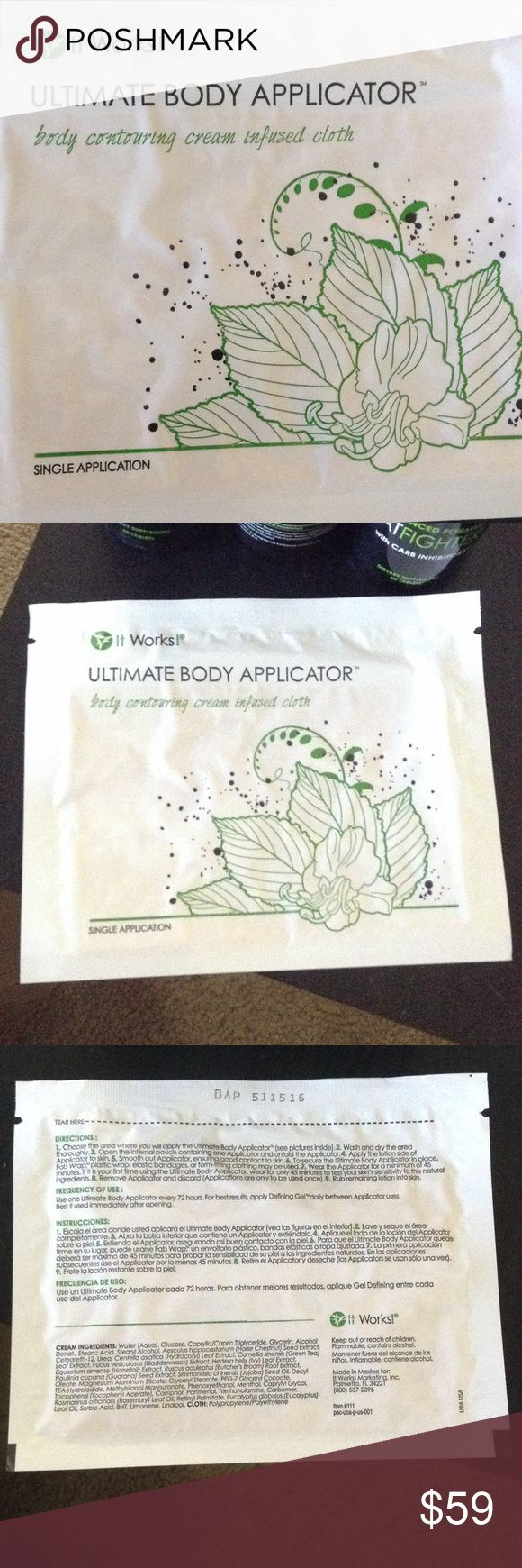 Ultimate Body Applicator Body contouring cream infused cloth. 1 pack. It Works Other