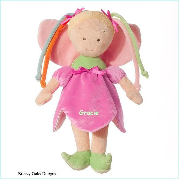 Personalized Cloth Fairy Doll Sibling Gift by BreezyOaksDesigns