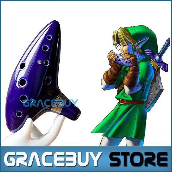 12 Holes Ocarina Legend of Zelda Alto C Flute Occarina Taps Blue Ceramic/Clay stl Orcarina Inspired of Time Musical Instrument