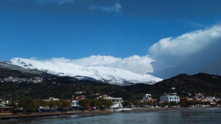 Snow above Plakias..