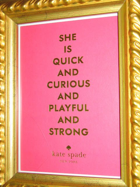 Kate Spade framed quote