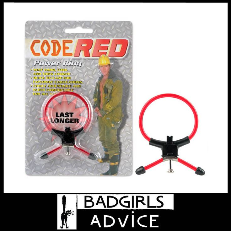 BAD GIRLS ADVICE ADJUSTABLE COCK RING THIN RED PENIS RING SEXTOY ERECTION AID AU #badgirlsadvice