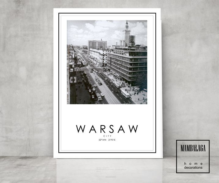 STARA Warszawa 50x70cm - MAMBALAGA - Plakaty typograficzne