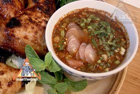 Authentic Thai recipe for Grilled Meat Dipping Sauce, 'Nam Jim Jeaw' from ImportFood.com.