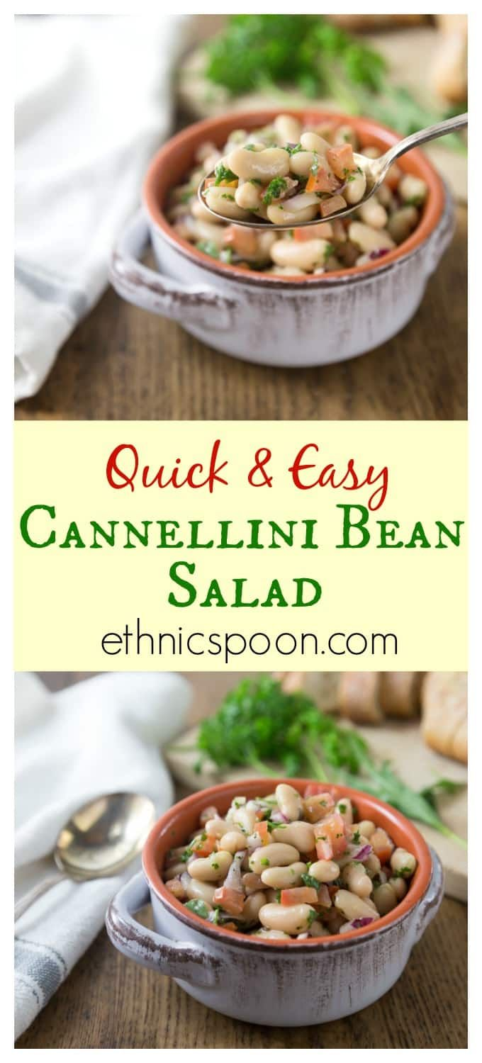 Cannellini bean, tomato, parsley, tarragon, white balsamic salad. Try this on a hot summer night! One of my best ever most requested dishes for a picnic! Quick and easy! Here is a must try summer bean salad when you want to eat something cool or take to a