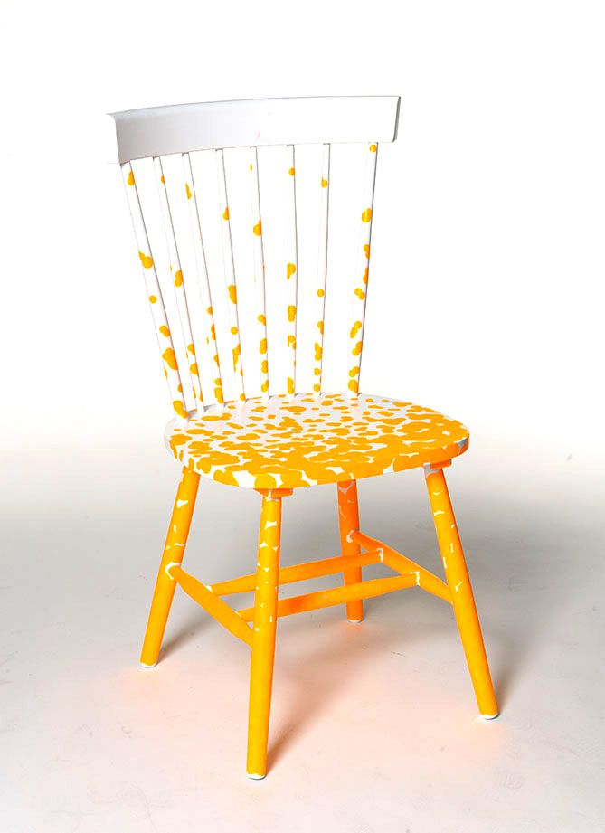 sedia decorata, chair, relook