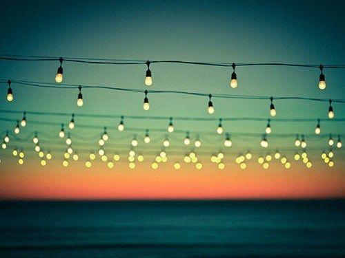 Summer fairy lights