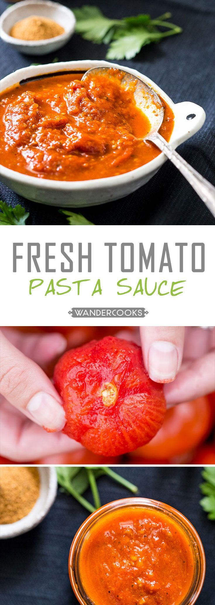 Fresh Tomato Pasta Sauce From Scratch