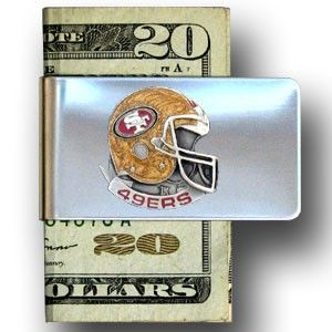 """Checkout our #LicensedGear products FREE SHIPPING + 10% OFF Coupon Code """"Official"""" San Francisco 49ers Steel Money Clip - Officially licensed NFL product Licensee: Siskiyou Buckle Stainless steel money clip Strong clip securely holds your cash Makes a great gift for an avid sports fan San Francisco 49ers emblem - Price: $16.00. Buy now at https://officiallylicensedgear.com/san-francisco-49ers-steel-money-clip-fmc075"""