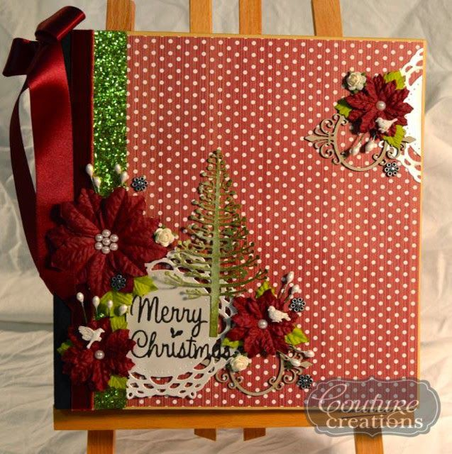 Couture Creations: December Daily Album by Mel Connell | #couturecreationsaus #Christmas #decorativedies #ornamentallacedies #doilydies #decemberdaily