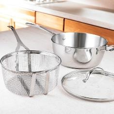 #PrincessHouse #Stainless Steel   6-Qt. Deep Saucepan w/Lid & Frying Basket   (6365 ) $234.95  Click on picture for more details.    WE SHIP ANYWHERE IN THE U.S.  lindabradley@myprincesshouse.com DISCONTINUED....BUT I HAVE THEM IN STOCK!