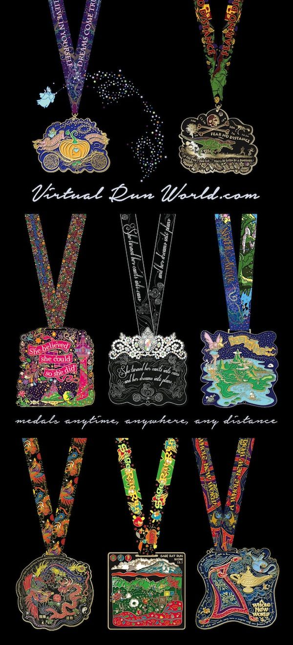 Magical medals at Virtual Run World, http://virtualrunworld.com