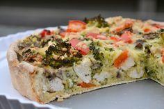 Quiche met kip en broccoli