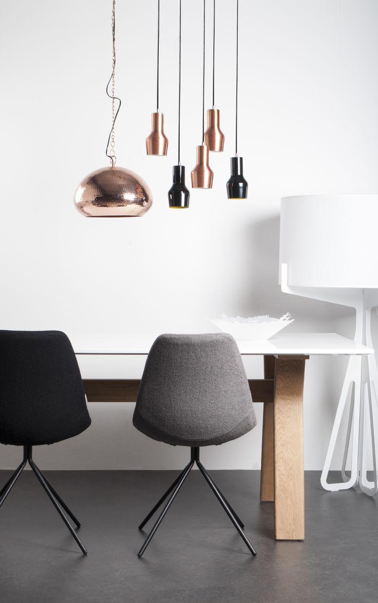 Mix koper met kleur of zonder wonen najaar 2014 for Lampen eettafel design