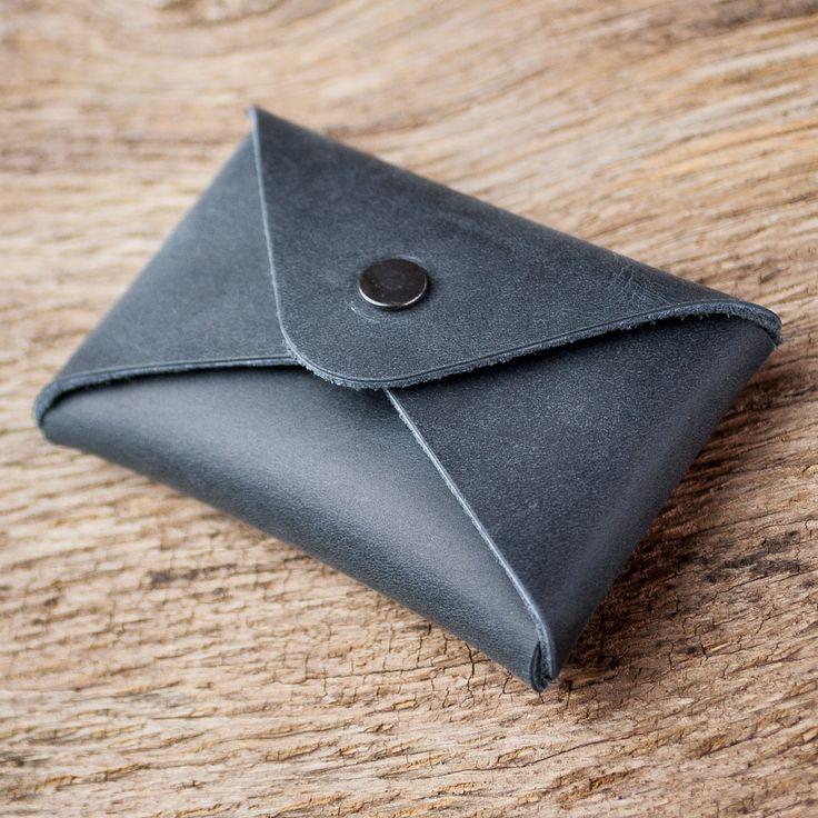 #Blau #Visitenkartenetui #Leder #blue #business #card #holder #wallet #Leather