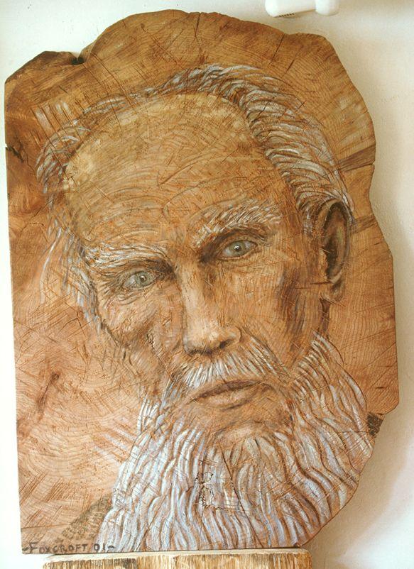 Professor Norman Oil on carved Elm