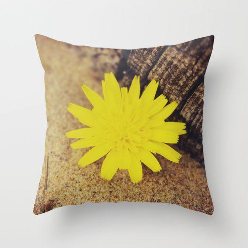 Sand Flower Throw Pillow by Ia Loredana   Society6   #Pillow #AreaPillow #ThrowPillow #artprint #print #natureprint #floralprint #colorprint #photographyprint #outdoordecor #indoordecor