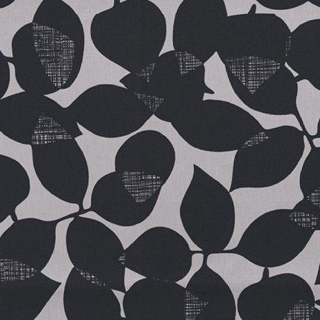 Modern leaf design in Grey and Black tones.Roller Blind.  #home decor #blinds #black #247