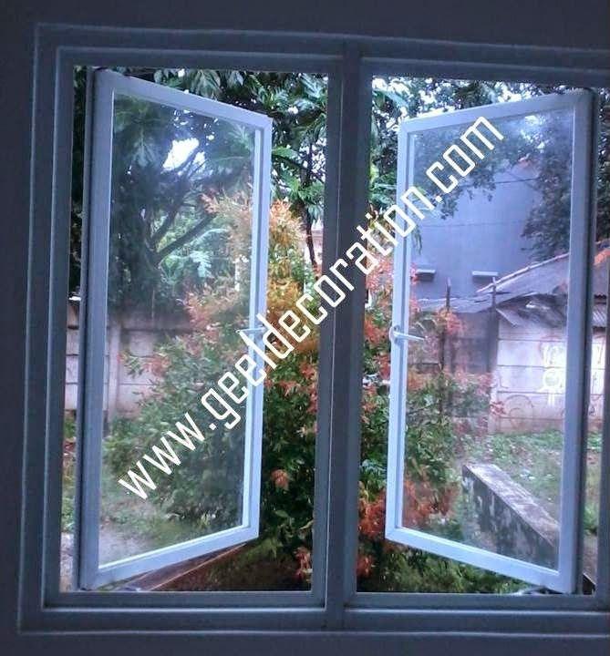 aluminium, kusen, kaca, partisi,  pintu, jendela, lipat, geser, swing, jungkit, pivot, sliding, : aluminium kaca swing jendela